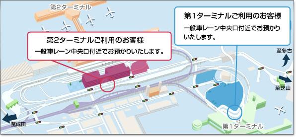 成田空港駐車場ココパーキング お預かりマップ
